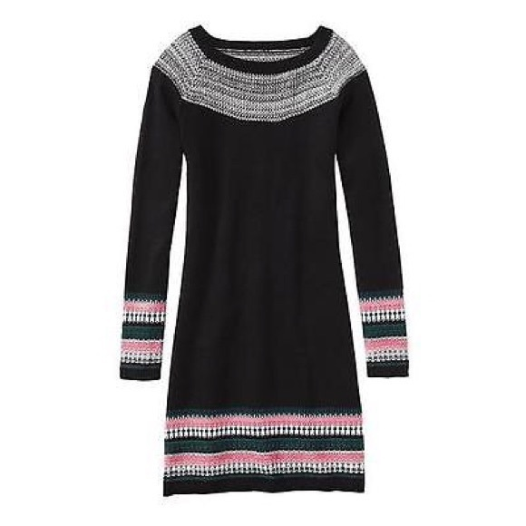 Athleta Dresses & Skirts - Athleta | Fair Isle Navy Nordic Sweater Dress
